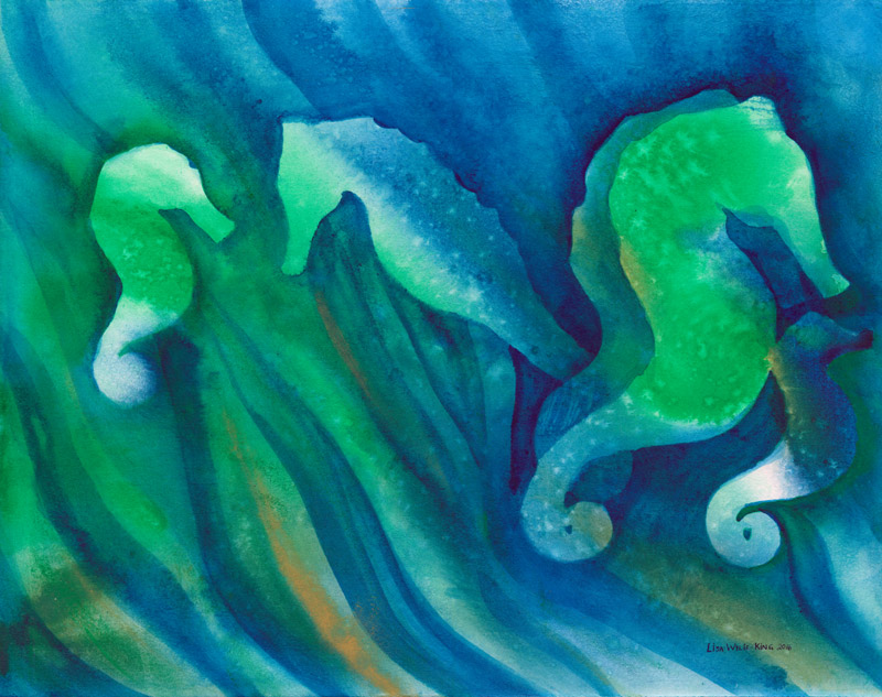 Seahorses in seagrass