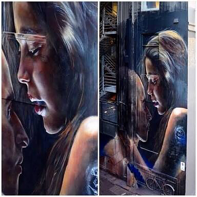 This is a piece I created with #incedible talent #adnate in the #laneway outside my bar in #melbourne @harleyhousemelb co-owned with @bobbyz01 @strachanlaneway