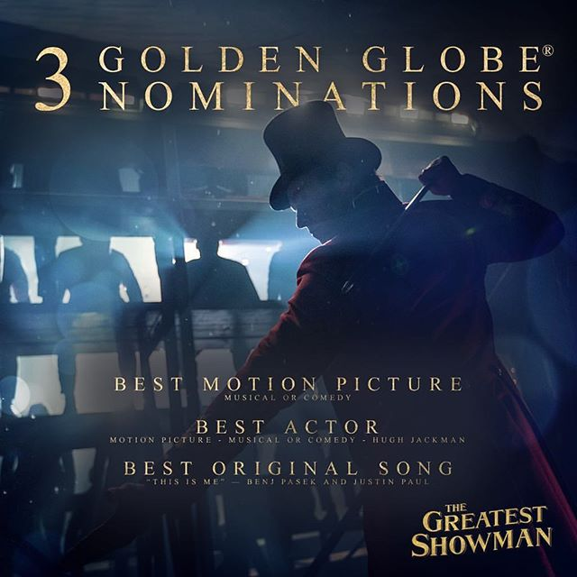 #congratulations to my good friend and possibly the hardest working creative person I know. @visualprostitute #michealgracey #director 3 #goldenglobe nominations #thegreatestshowman