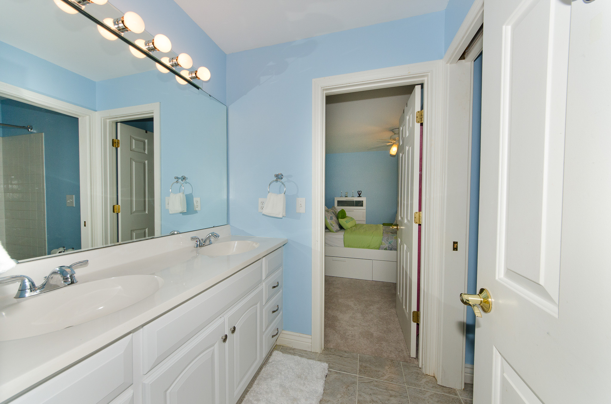 Jack and Jill bathroom between bedrooms #2 and #3