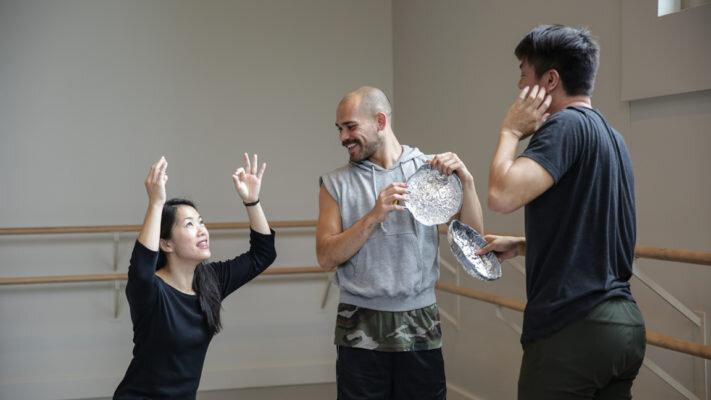 Marissa Osato leading rehearsal during the New Movement Residency | Photo by Mary Mallaney