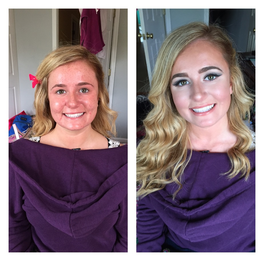 Prom before and after on Paige
