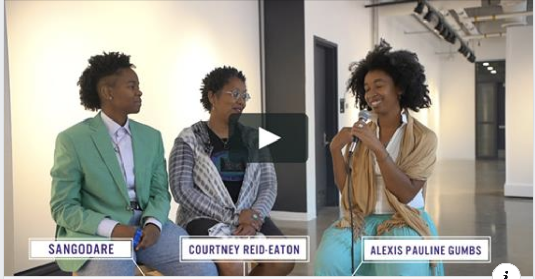 Stay tuned for video number #1 which documents the intergenerational love and creative collaboration with  Courtney Reid-Eaton  💜💜💜🎬  #blackfeministfilm  @ Regis Center for Art (alexispauline)