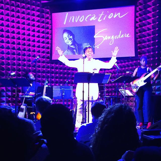 Such an honor to open for Jomama Jones at Joe's Pub at the Public Theater. People are asking about a recording... I'm thinking I'll recreate the invocation to celebrate the release of the Jomama Jones album we were gathered to witness. #context #ceremony #justoffbroadway @msjomamajones @alexispauline @jeannettebronson
