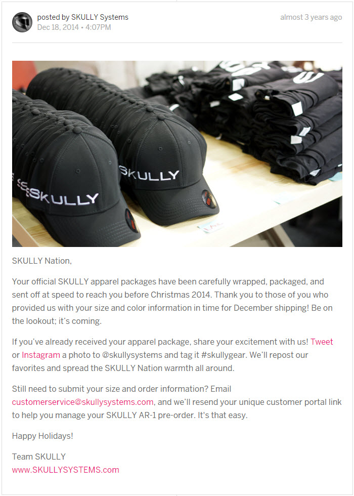 Seasonal campaign strategy, product photography, and copywriting for email marketing and Indiegogo campaigns.