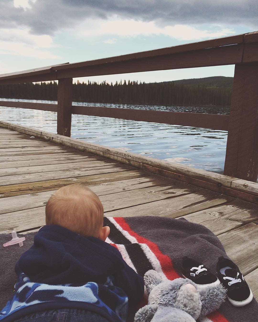 Graham loved tummy time on the pier! We'll be coming back to this beautiful place again soon!