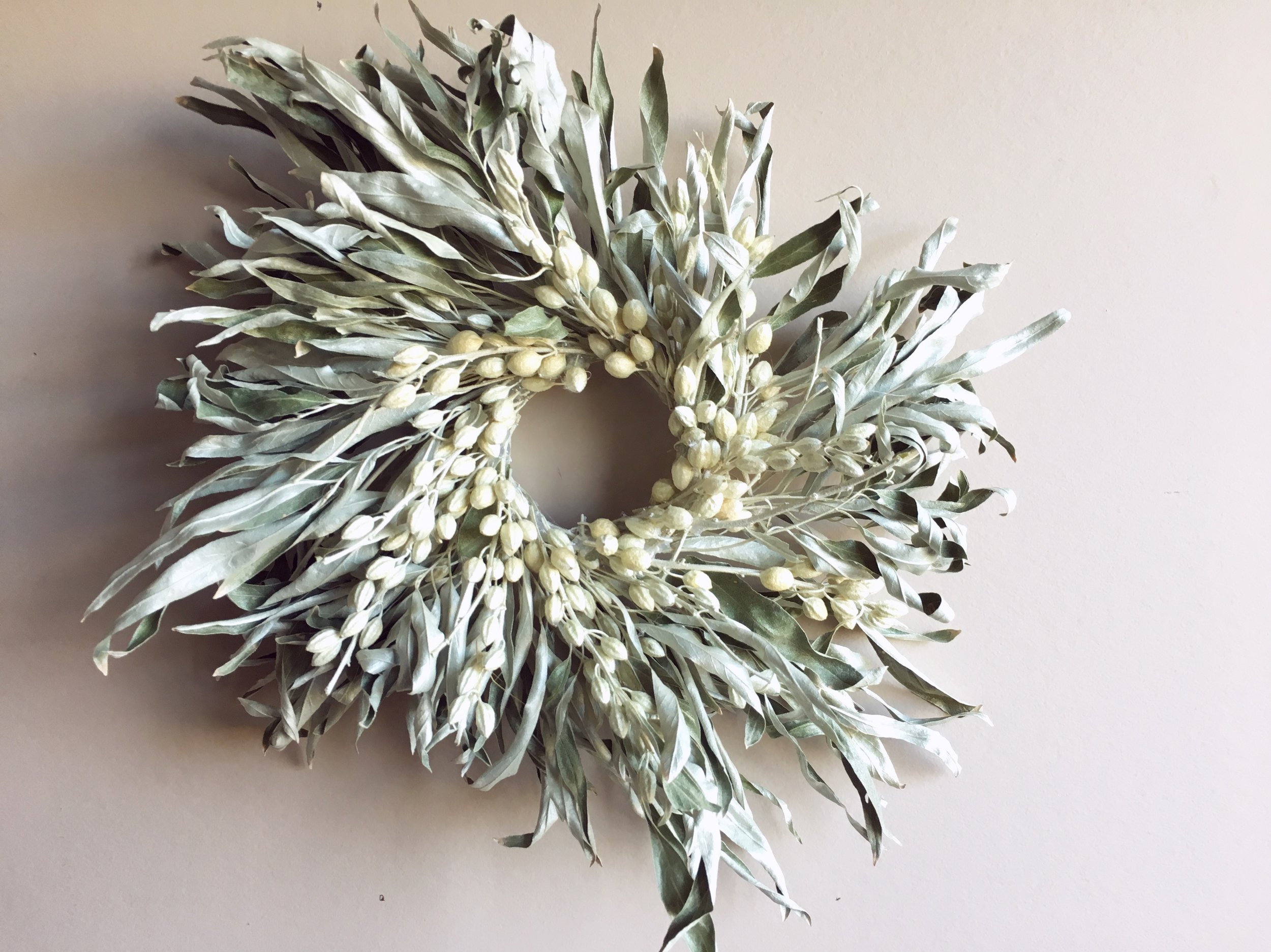Russian Olive Wreath.