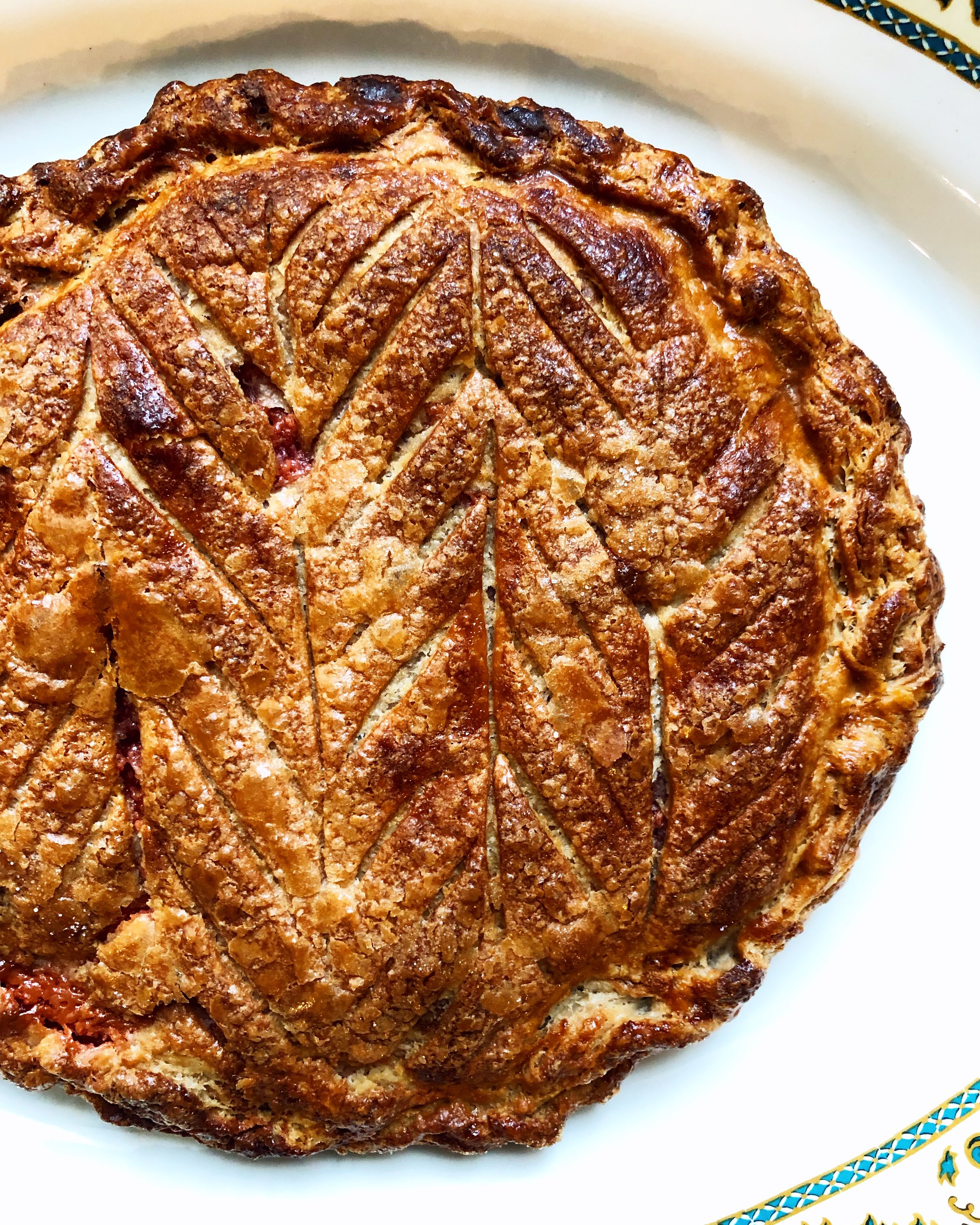 Galette des rois! Put one whole almond in the filling if you want to be really traditional. Whoever finds it in their piece wins a special prize!