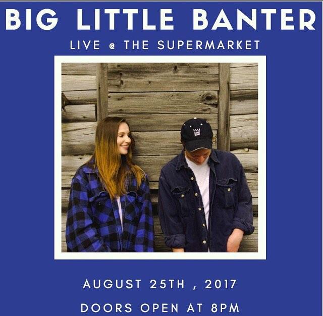 This Friday , August 25th, @natedaviaumusic and @juliagartha will be playing at The Supermarket ! Doors open at 8:00pm  #Toronto #music #thesupermarket #livemusic #duet #biglittlebanter #originalmusic #originalsound