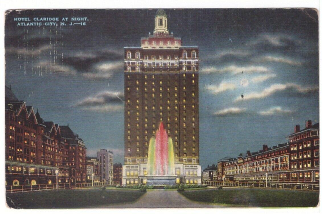 Vintage postcard Claridge Hotel.
