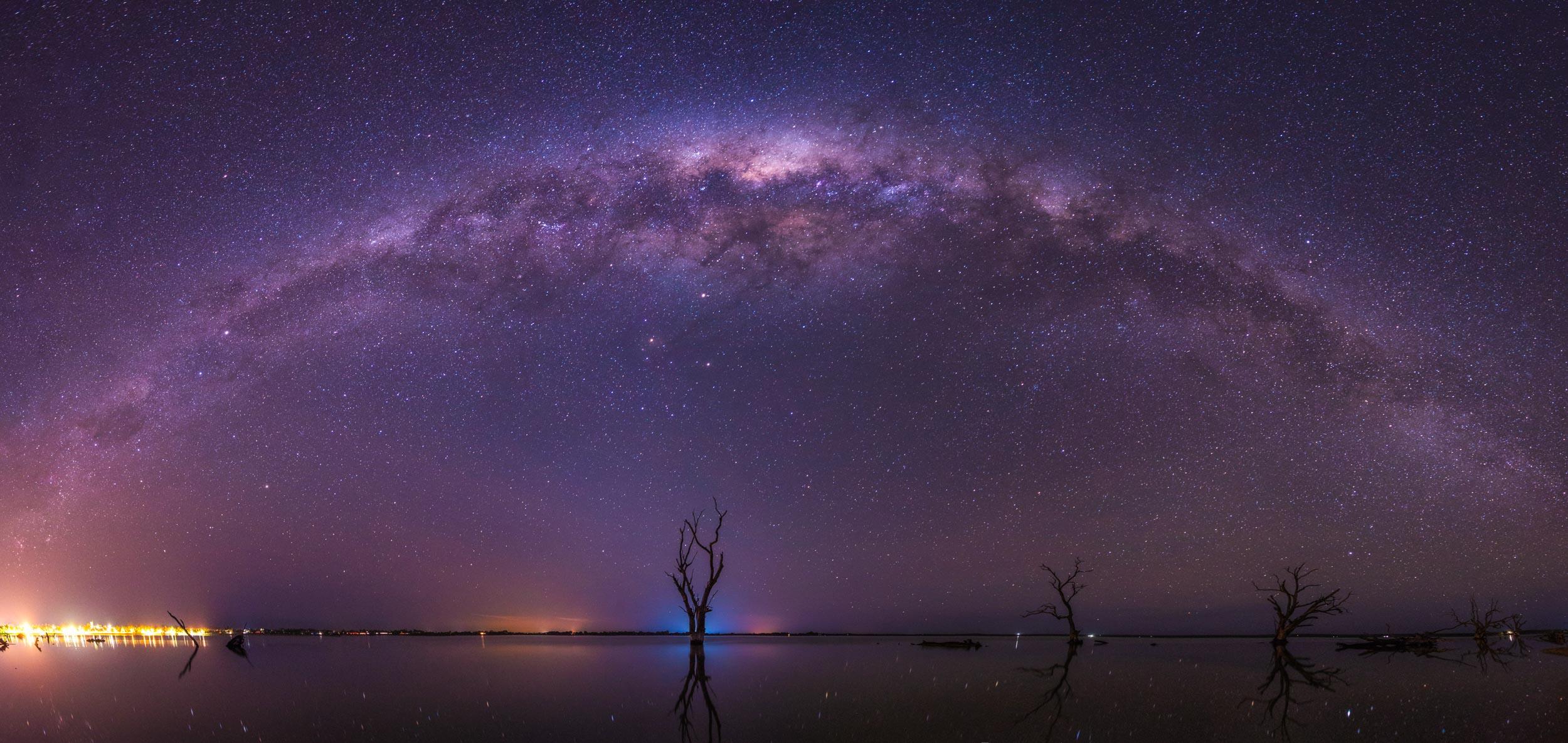 Milky Way panorama @ Lake Bonney, Riverlands