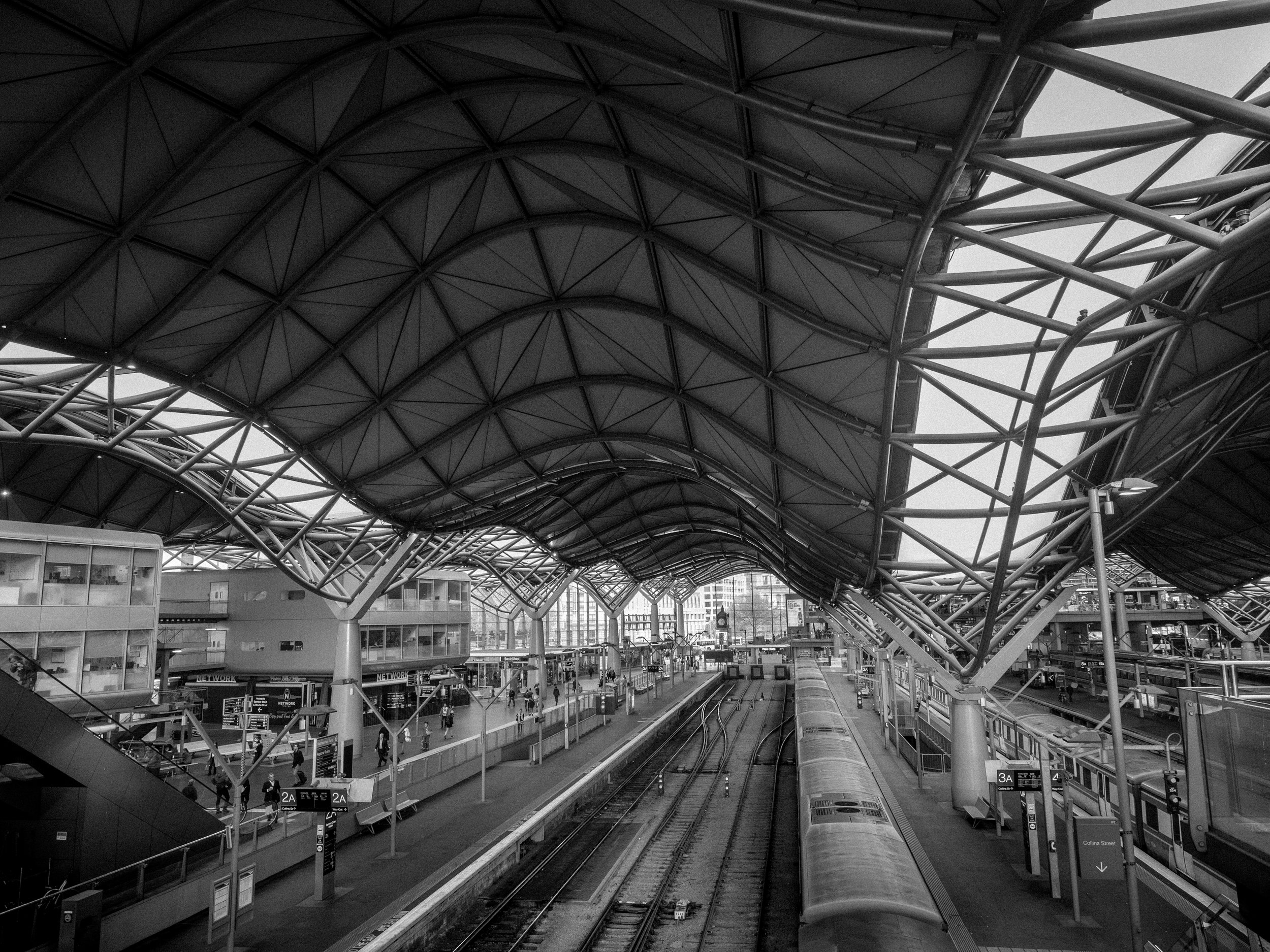 Southern Cross Station redeveloped in the 2000's with major delays and over budget by a staggering $200 million. It's been criticised for poorer pedestrian access due to closure of underground connection that's been replaced by awkward escalators