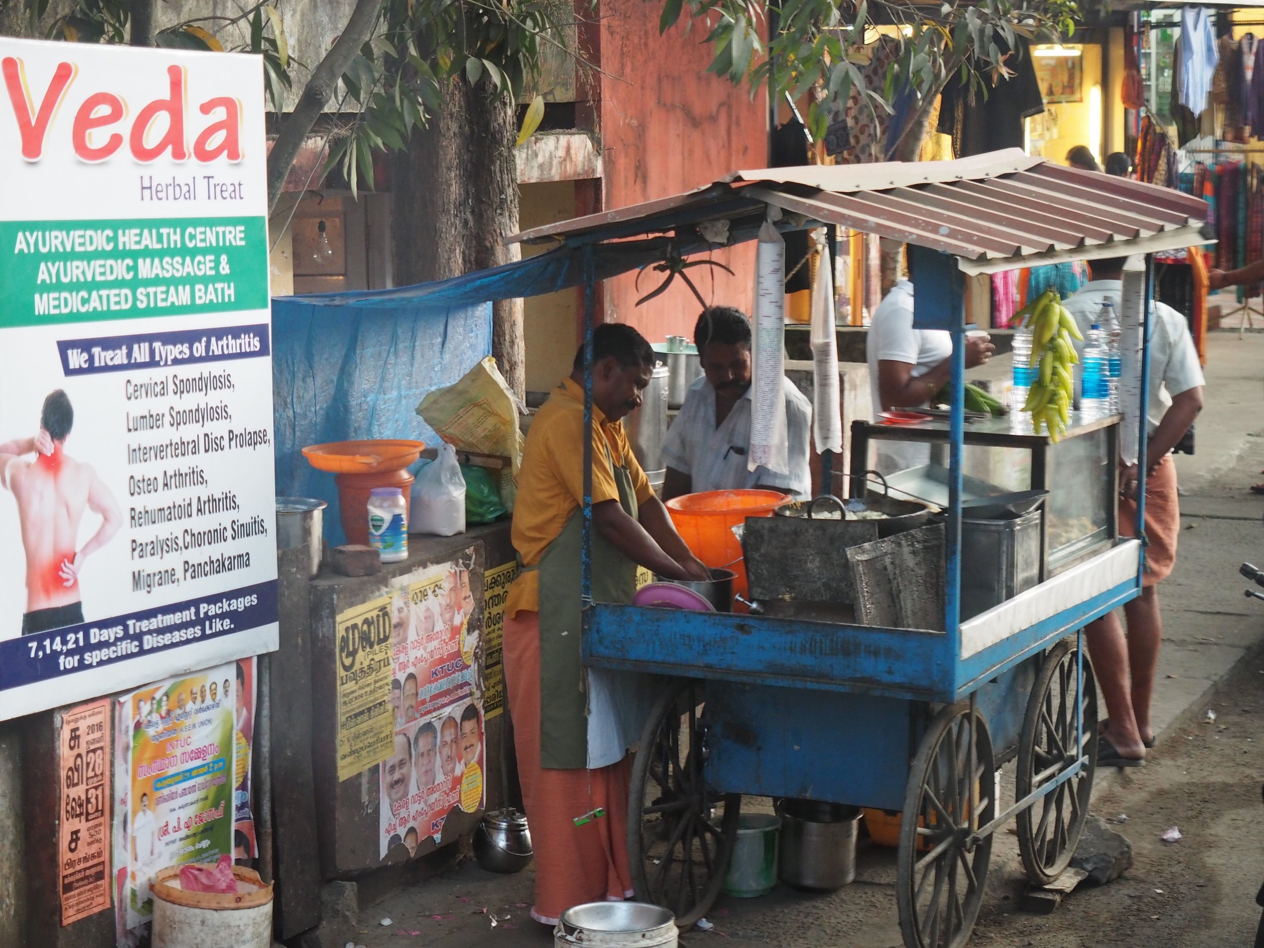 Food vendors provide an important service, they supply daily snack to locals.