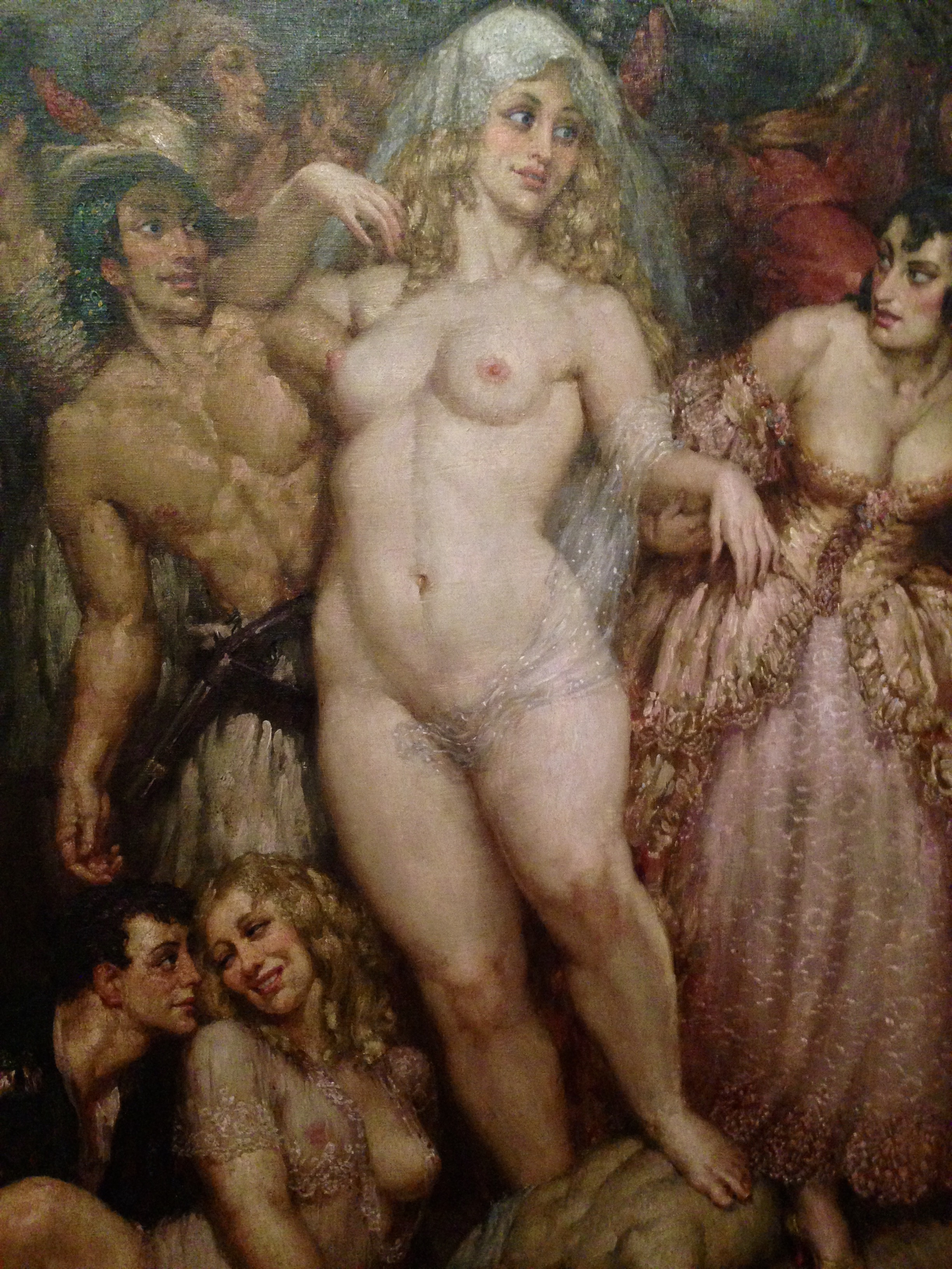 I thought this painting by Norman Lindsay, Who Conquers Fear, 1945, is perfect for this story! A confident and voluptuous woman, who seems rather happy and fulfilled. I saw this at Bendigo art gallery last year. I think Norman Lindsay would agree that there is a strong parallel between his subject and Angela White.