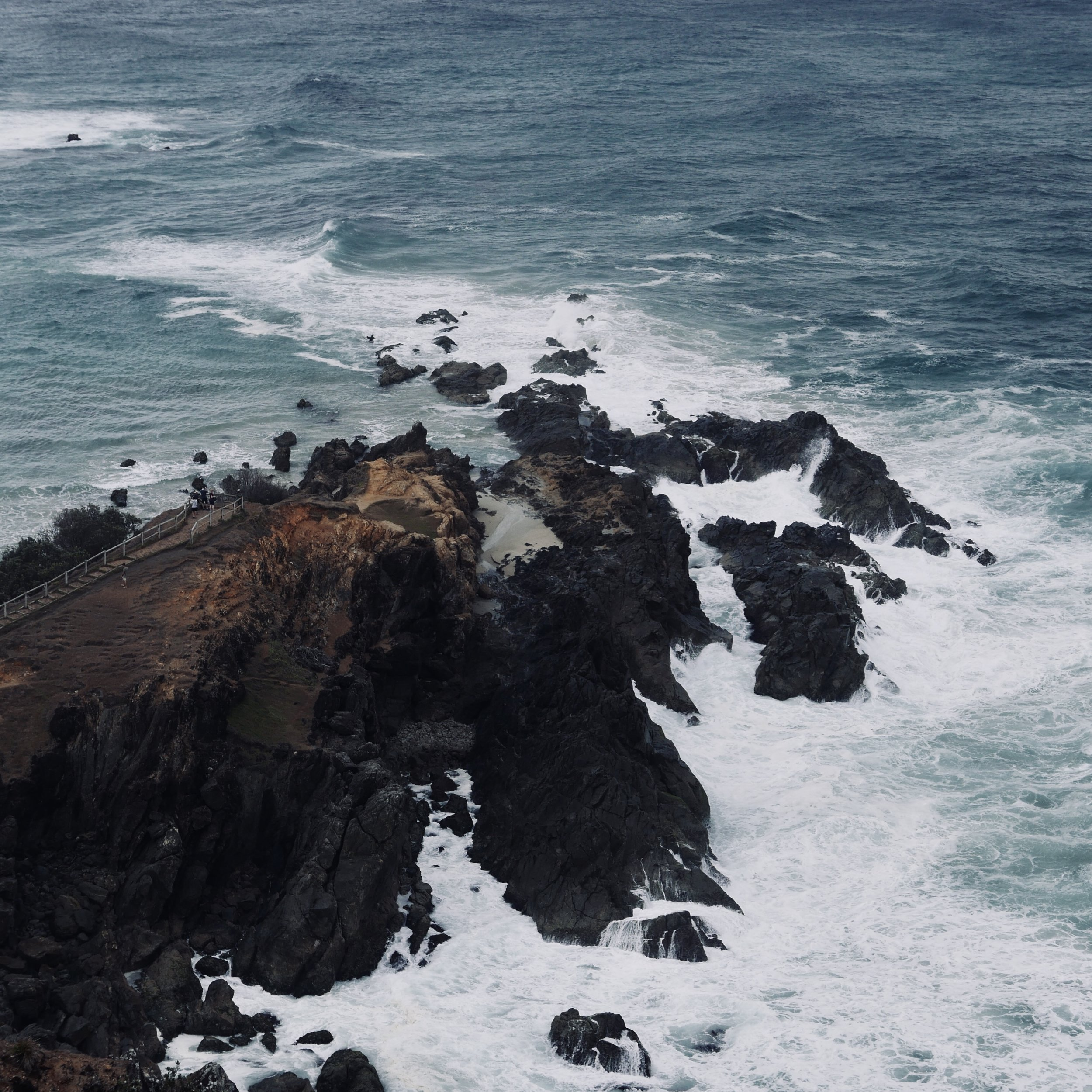 This is the view from the walking track that takes you up to the lighthouse. These dramatic rocky outcrops and crashing waves are powerful and mesmerising to see.