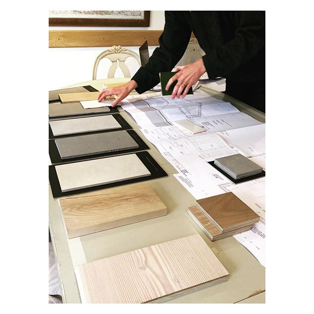 Choosing the internal finishes for an exciting new build in Norfolk - can't wait for this one to start on site! . . . . . . #architecture #newbuild #cottage #design #materials #interiors #materialsamples