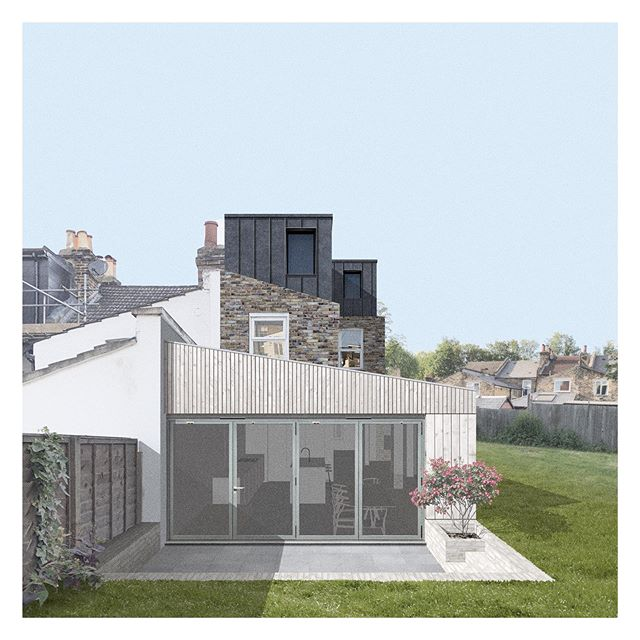 Planning submitted for a rear extension, loft extension & full refurbishment on this unique end of terrace site in Nunhead 🙌 . . . . . #extension #design #london #architect #architecture #loft #loftextension #architecturalvisualisation #photoshop #collage #render