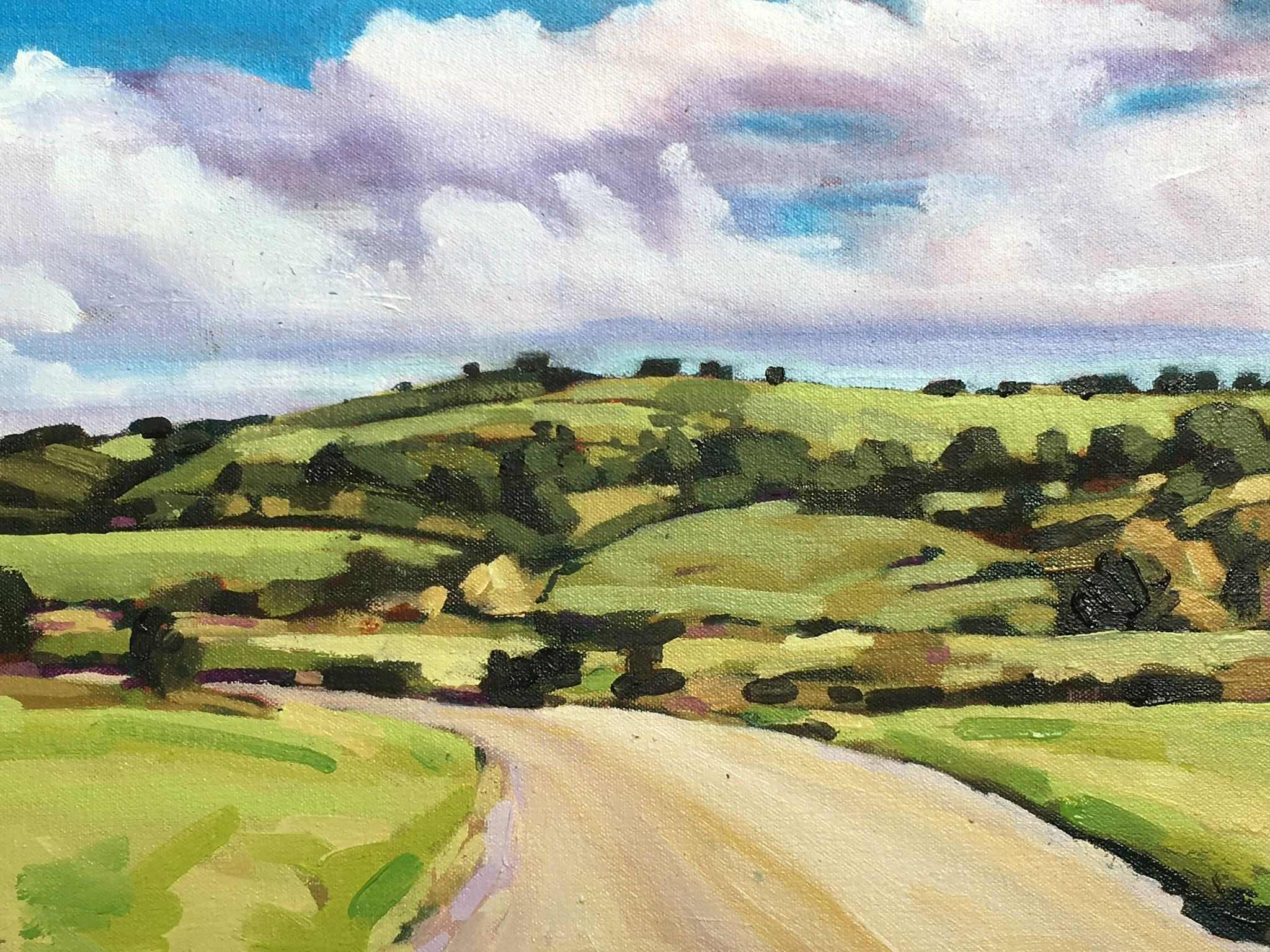 Jeremy Bournon - Jeremy is primarily a landscape painter working from a home-based studio in Repton, Derbyshire, and also in a larger space at Storer Farm, Wirksworth, where he runs art courses.