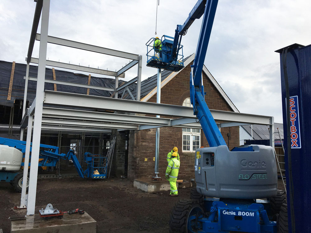 Steel Erecting at Friockhub