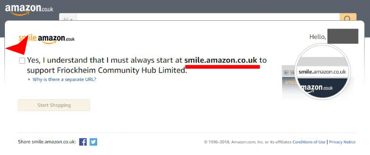 Amazon fundraising friockhub