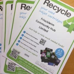 recycle inkjet cartridge fundraising friock hub