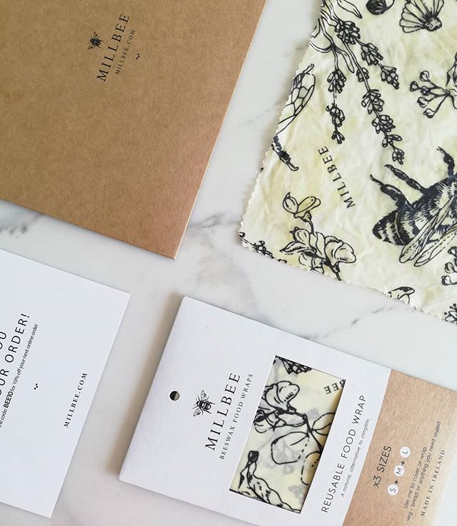 Packaging is in for @millbeestudio beautiful beeswrap, natural alternative to clingfilm. Delighted to Art Direct and design collaborate with Jennifer Doyle founder of @millbeestudio. Check out her feed and fantastic new video by talented  @paulanolanphotography . . . . . . . . . #naturalpackaging #naturalclingfilm #organic #organicfood #sustainable #sustainabledesign #branding #brandingdesigner #brandingagency #irishproduct #Environmental #environmentallyfriendlyproducts #environmentallyconscious #artdirection #packagingdesigner #naturalpackaging