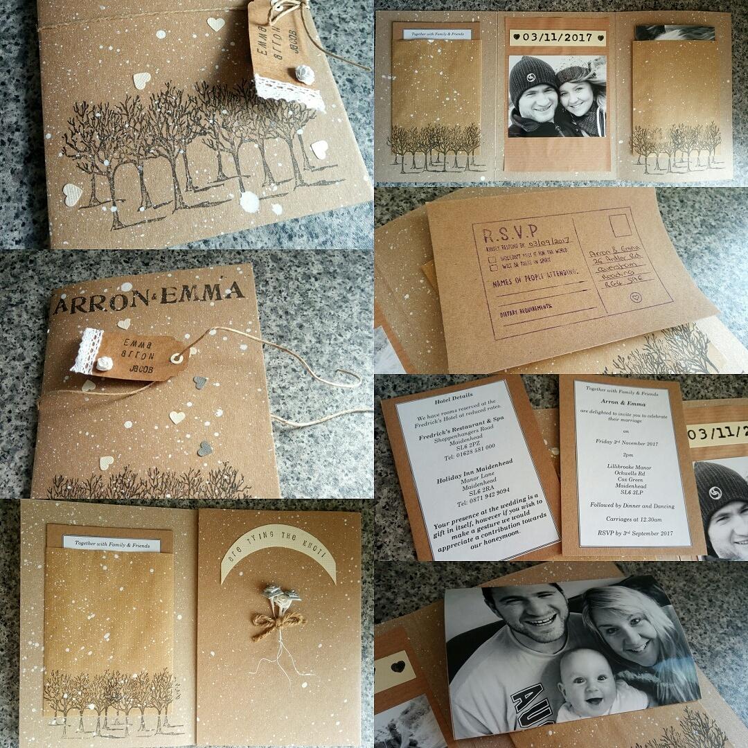 Hand-made wedding invitations