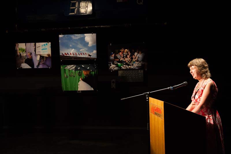 Jane Sloane at the launch of FRAME, 27 November, Griffith Film School