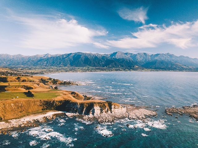 Kiakoura was one of the stops on our New Zealand adventure that really surprised me. Whales, dolphins and albatros can all be seen from it's beautiful coastline. ⠀ .⠀ .⠀ .⠀ .⠀ .⠀ .⠀ .⠀ .⠀ #djimavicpro #dronephotography #dronepointofview #dronestagram #fromwhereidrone #passionpassport #dronegear #dronegram #theweekoninstagram #beautifuldestinations #earth #artofvisuals #visualsofearth #folkscenery #stayandwander #earthoutdoors #travelphotography #visualscollective #earthpix #lifeofadventure #pathfinders #agameoftones #natgeotraveler #wildernessnation #lonelyplanet #fantastic_earth #kaikoura #southislandnz #whalewatching ⠀