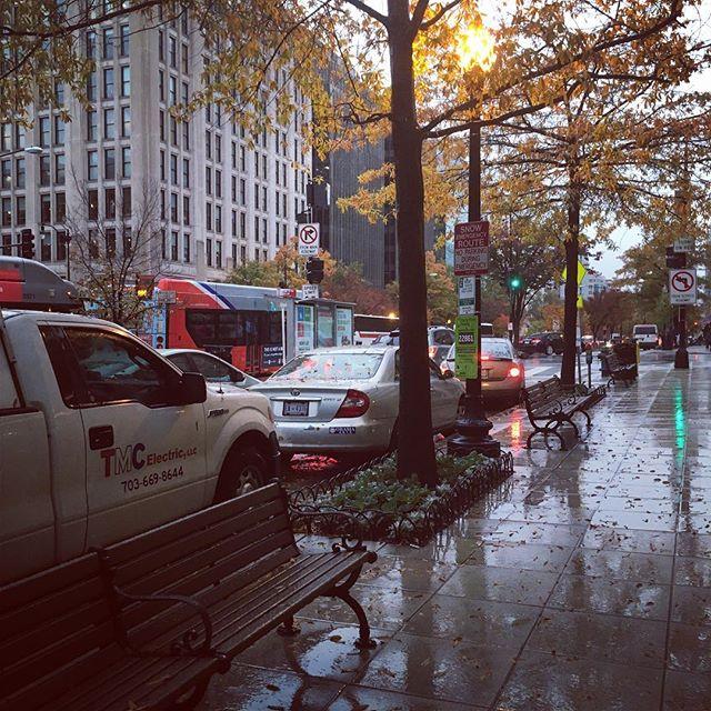 Rainy morning here on K Street. #why #dc #rain #workworkwork