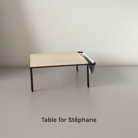 A big living room table for the home of @stephaneronse  Small scale model and final result. Powdercoated steel, varnished birch, linen.  #table #livingroomtable #furniture #furnituredesign #wood #steel #linen #woodworking #birch #studiopieterdauwe #customfurniture #madeinbelgium #handmadeinbelgium #madeineurope