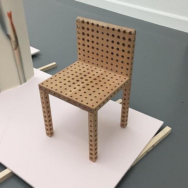 Inspiration Thursday: Chair with Holes, 1989, Gijs Bakker 😱 #furniture #furnituredesign #wood  #furniture #furnituredesign #woodworking @gijsbakkerdesign
