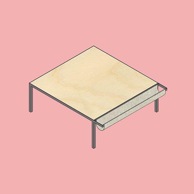 Table for Stéphane.  #furnituredesign #wood #table #polishpine #ontwerpontwerpers #customfurniture #madeinbelgium #handmadeinbelgium