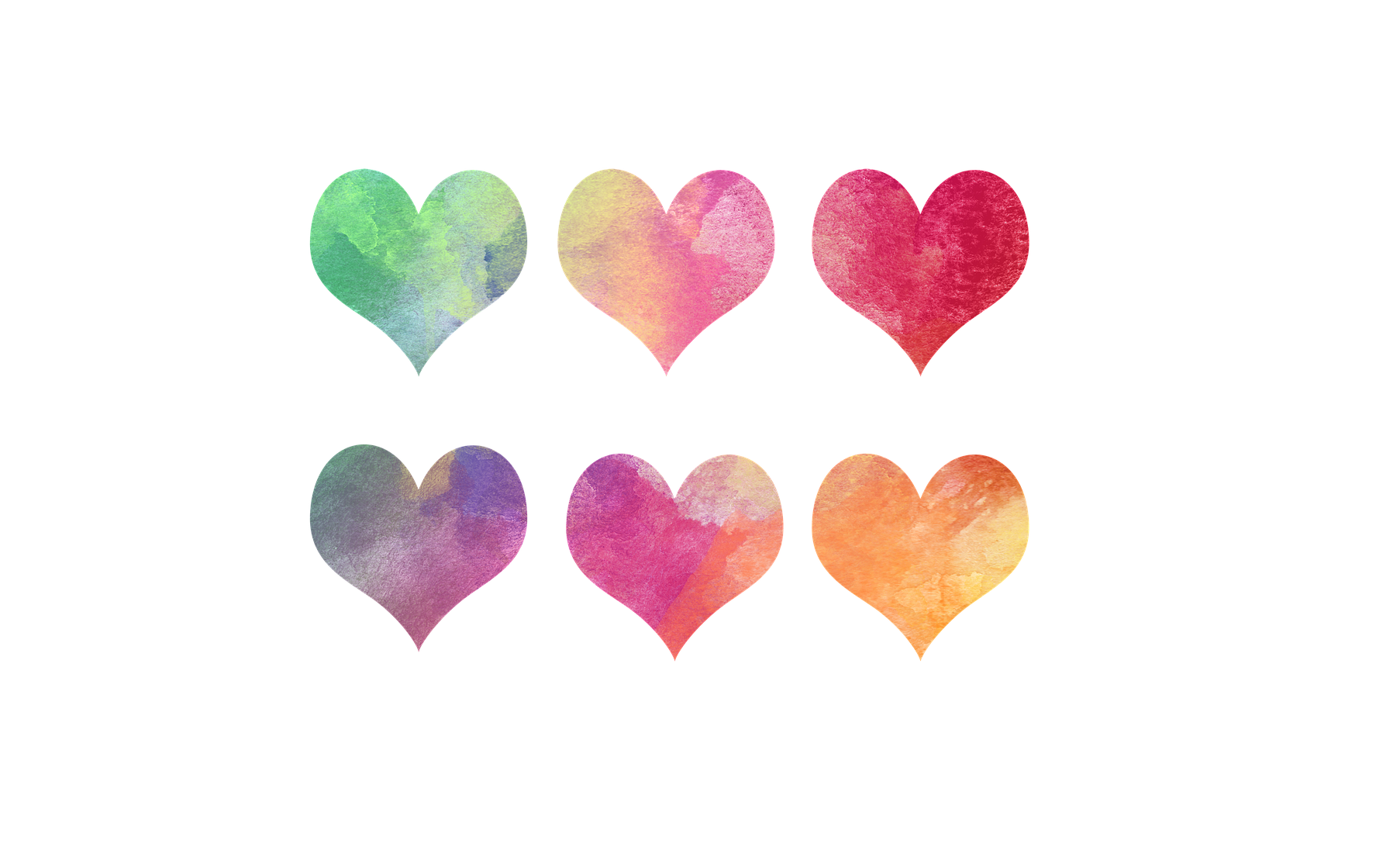 Hearts-Orange-Watercolor-Valentine-Pink-Colorful-1994273.png