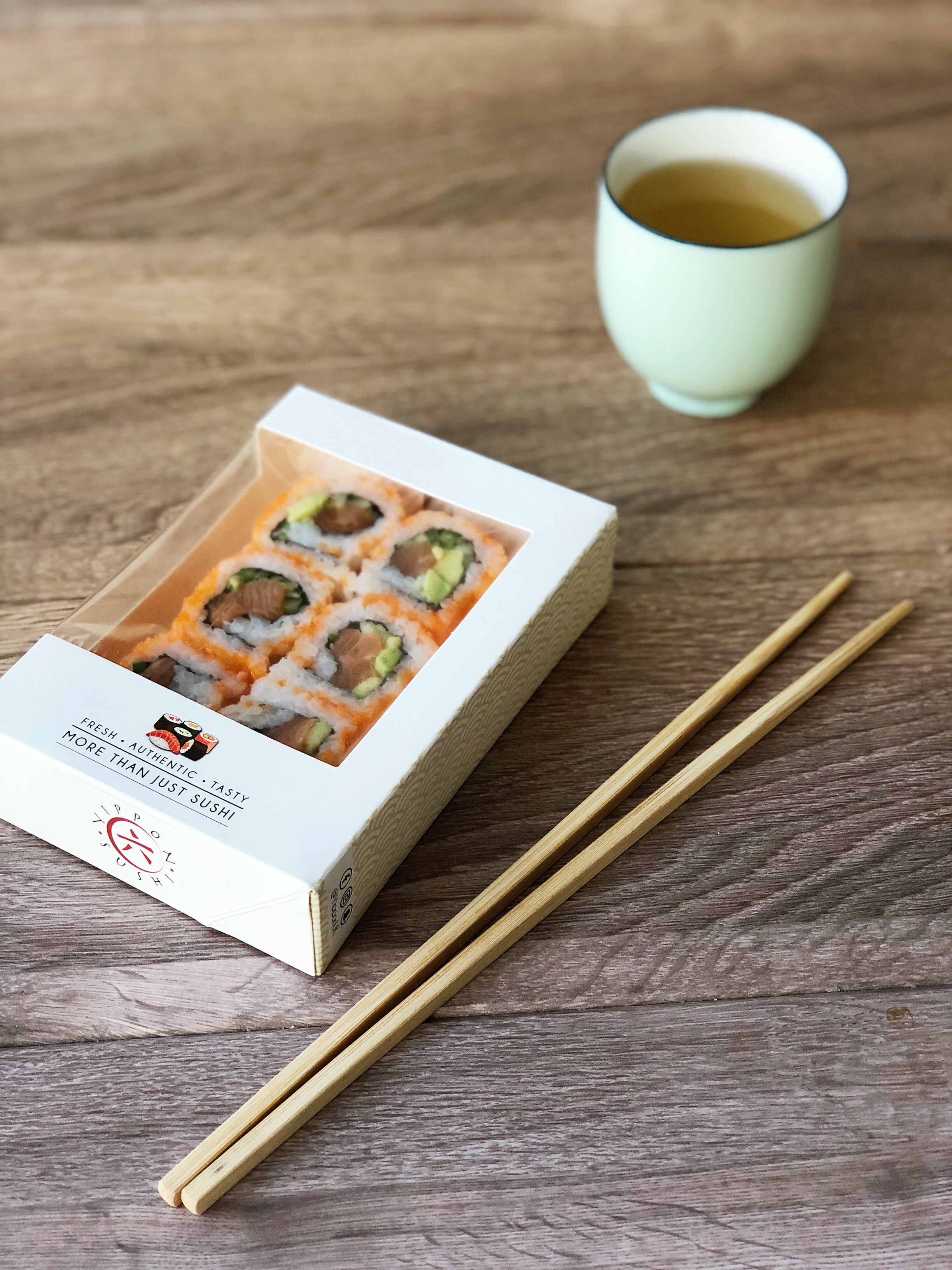 SUSHI -  Our sushi are freshly prepared in our kitchen every day and pre-packaged for your convenience. We provide a selection of sushi boxes and individually wrapped sushi, including vegetarian sushi options.