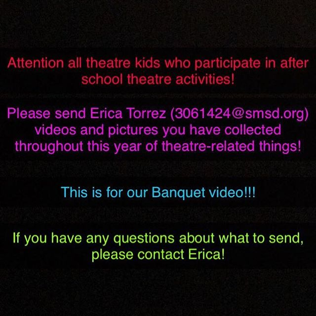 Send Erica Torrez whatever videos/pictures you have from this year!