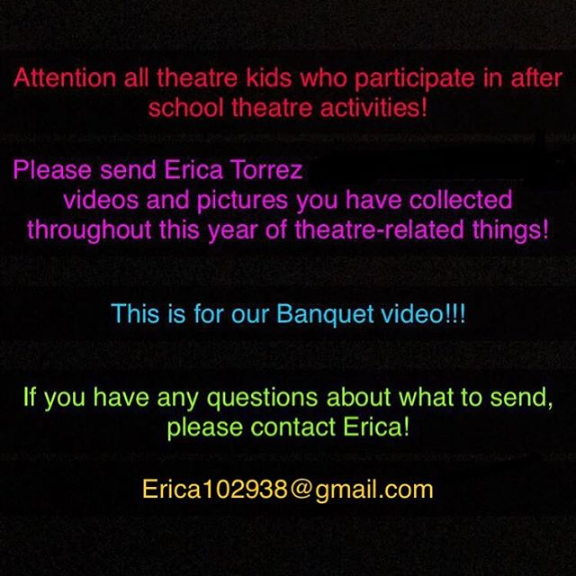 UPDATE: Please use this email to send Erica pictures and videos, or text her if you have her phone number