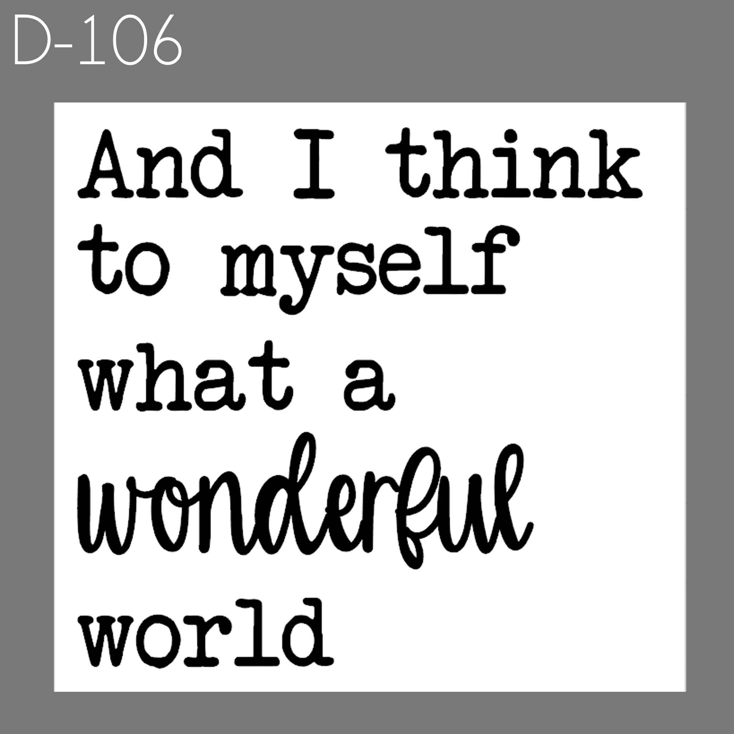 Wonderful World   $30
