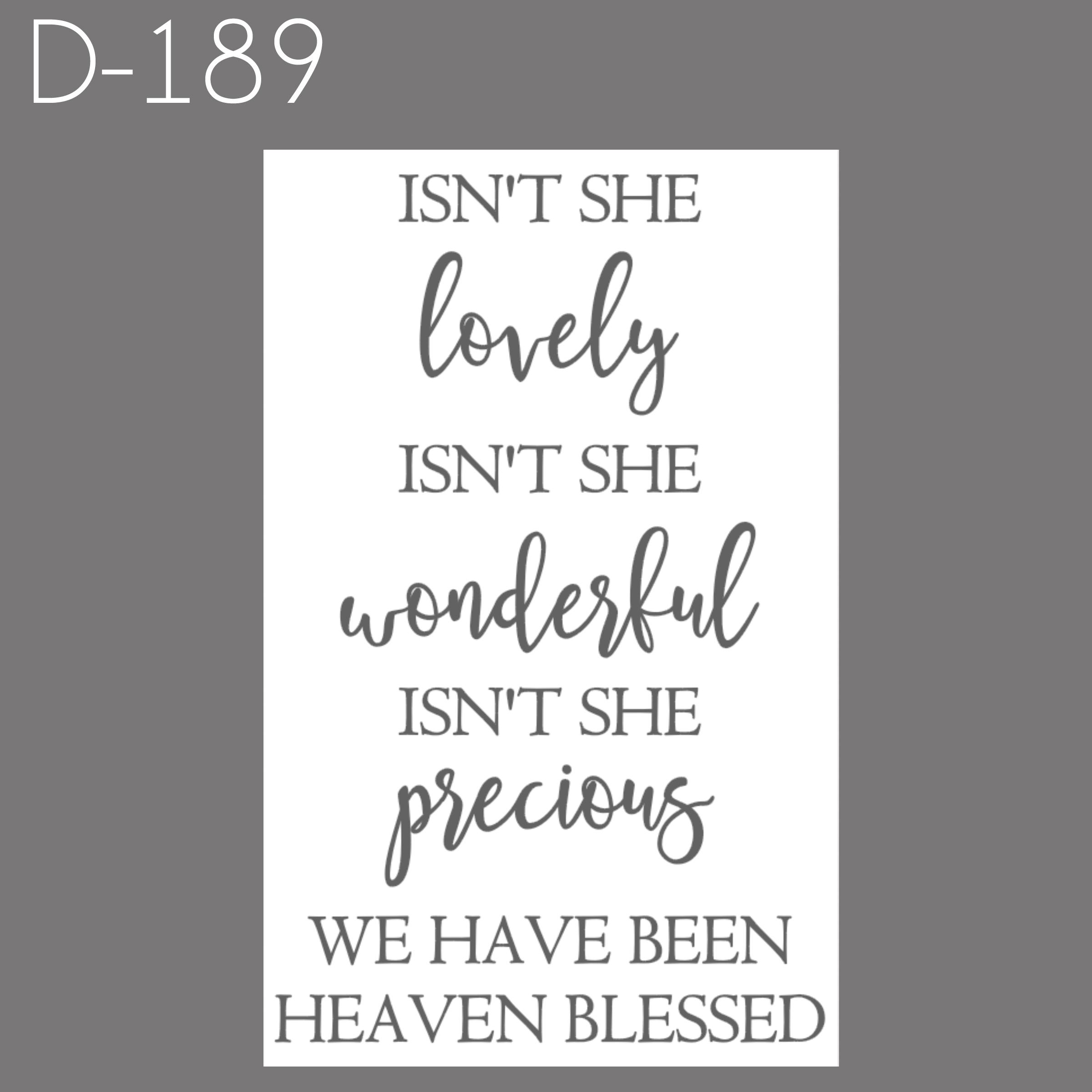 D189 - Isn't She Lovely.jpg