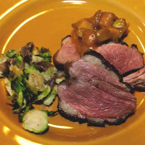 Maple-Spiced Duck with Apple-Quince Compote and Brussels Sprouts with Duck Confit.jpg