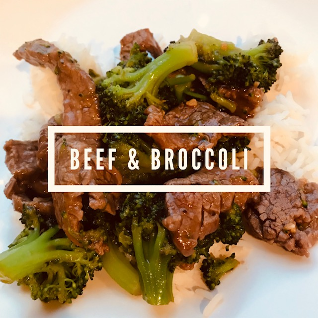 Recipe:  2 lbs flank steak  2 lbs broccoli  1/4 cup arrowroot powder  1/2 cup tamari sauce  1/2 cup honey  1 tsp ground ginger  1/2 tsp garlic powder  2 tbsp grape seed oil  Directions:  Slice flank steak into very thin slices that go against the grain of the steak. Toss steak in arrowroot powder and set aside. In another bowl, mix tamari, honey and spices. Steam chopped broccoli. Heat oil on medium to high heat and cook steak in batches if necessary (depending on size of wok). Sear steak on each side, turn down heat, and then add tamari mixture while steak is still pink. Allow sauce to thicken. Add already steamed broccoli. Service over rice!  Macros for 5oz steak, 1 cup broccoli and 1/2 cup rice  P 36, F 12, C 46