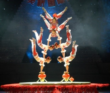EP3: Acrobatic Show - This is one entertainment that must not be missed by the young and old on a visit to Beijing. China has many world class acrobatic troupes because practically every province and major city will have its own acrobatic troupe, and children are selected to be trained as performers from a young age. The group bicycling show is also a favorite with the ten cycling girls finally all ending up on a bicycle with their fans spread out like a peacock. Other exciting acts are the juggling of large porcelain urns, martial arts, balancing of bowls, umbrellas or stacked chairs, rope walking, pole climbing, roller skating and plate swirling.
