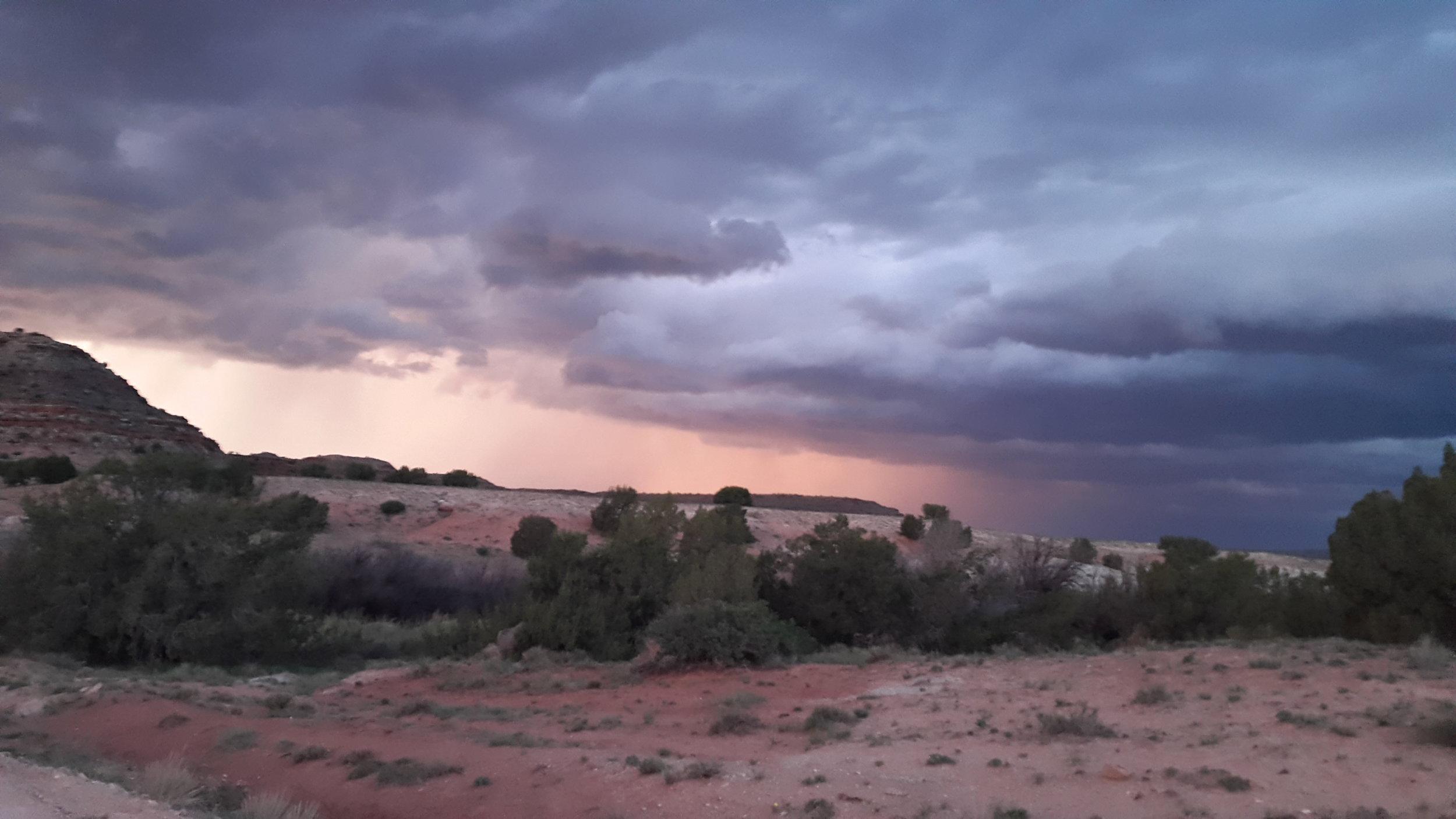 We got some rain out of this thunderstorm, so we are grateful!  Dieses Gewitter hat uns Regen beschert, also sind wir dankbar dafür!    Greetings from the Wild West,  Grüsse aus dem Wilden Westen,  Claudia
