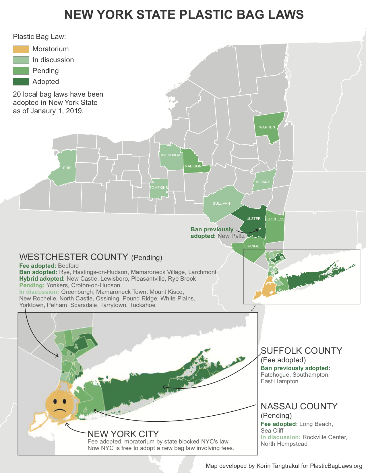 Map of New York State Bag Laws — PlasticBagLaws.org