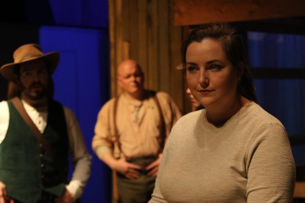 Meghan Stanton as Exeter, Matthew Casella as Mountjoy, Lance Bankerd as The Chorus