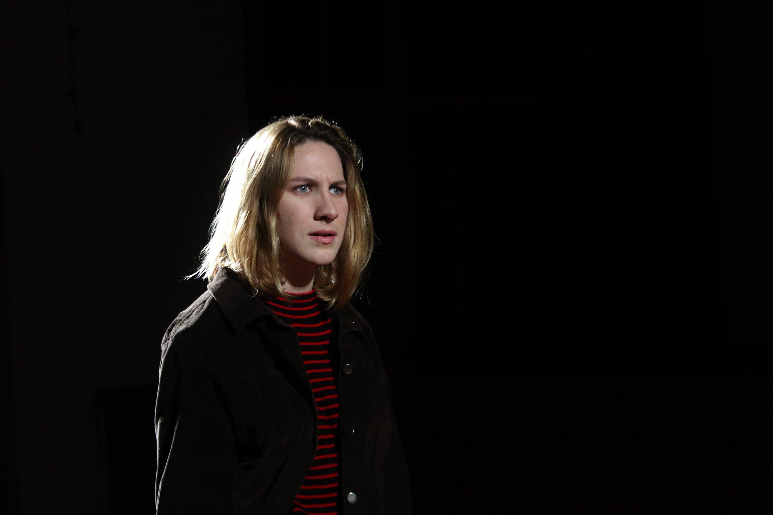 Caitlin Carbone as Hamlet