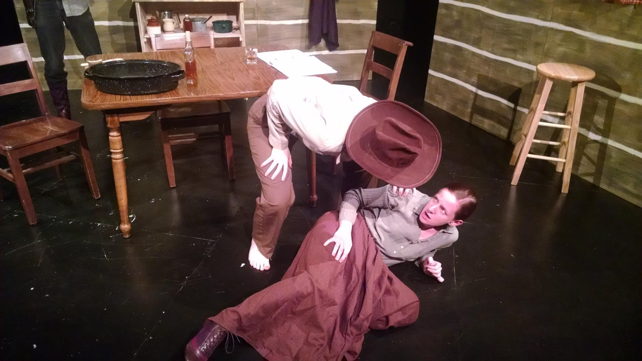 Jane Jongeward as Cap and Katharine Vary as Sally at the Strand Theater.