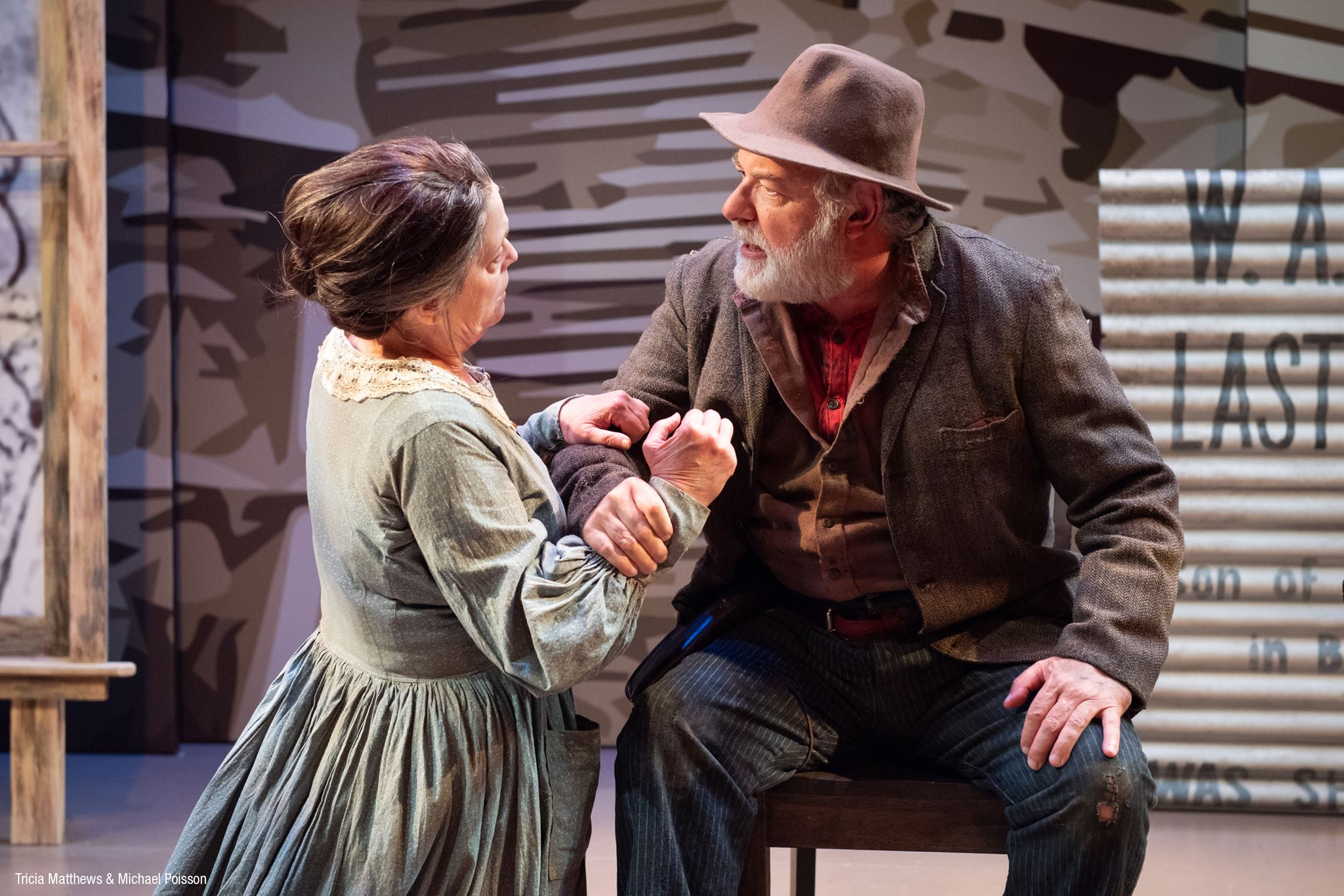 Tricia Matthews as Sally and Michael Poisson as Devil Anse at the Barter Theatre.