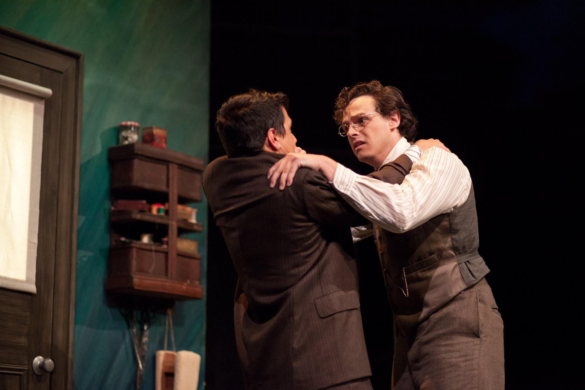 Brooks Laney as Stanley Fisher and Kyle Cordova as George Burlew. Photo by Lawrence Peart.
