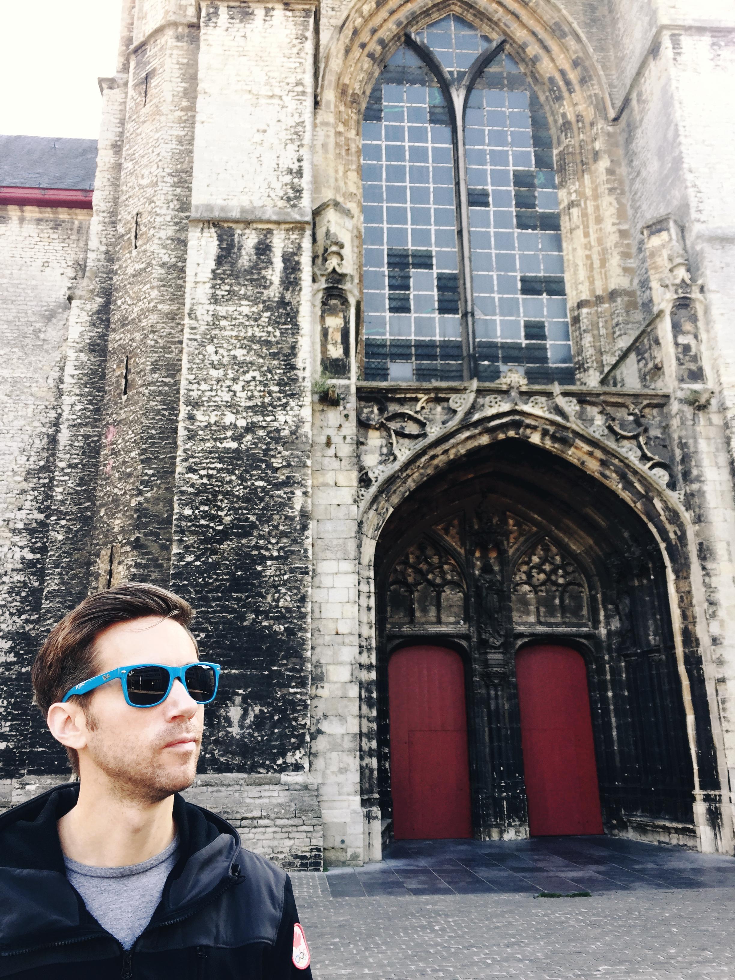 Handsome husband, handsome cathedral